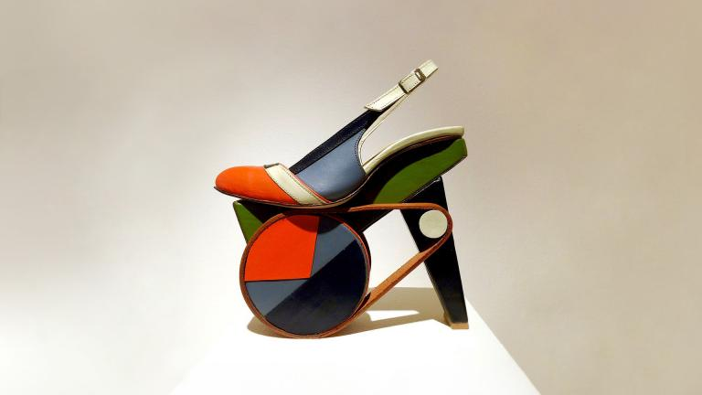 Signature image for Chris Francis shoe art exhibit at SCAD FASH